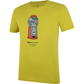 Wild Country Flow Tee Men whin yellow/friend machine